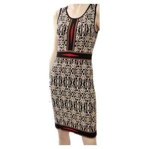 Carmen Marc Valvo printed knit dress S